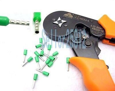 NEW HSC8 6-4 MINI Adjusting Ratcheting Ferrule Crimper AWG 24-10