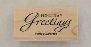 Stampin-Up-2005-Rubber-Stamp-Wood-Base-Holiday-Greetings