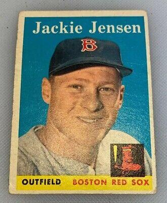 1958 Topps 130 Jackie Jensen Baseball Card Boston Red Sox