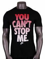 NIKE You Cant Stop Me T-Shirt sz M Medium Black Red White Gradient Free Trainer