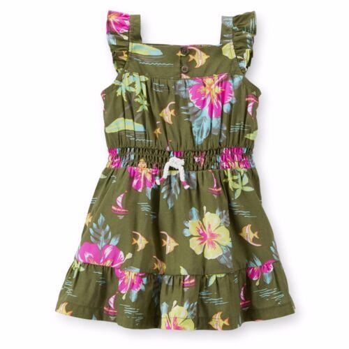 Carter/'s Girls NWT Island Floral Flutter Sleeve Sun Dress Matching Panty $38