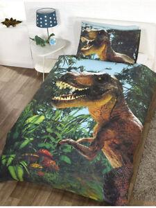 Bettwäsche Jurassic World Dinosaurier T Rex Kinder Bettgarnitur