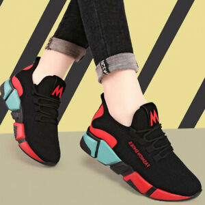 Women-039-s-Causal-Shoes-Sneakers-Breathable-Flats-Outdoor-Jogging-Running-Shoes