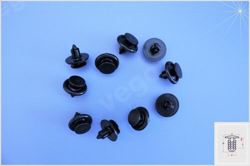10x spreizniet Parafango Clip di Fissaggio Barra Decorativa 90467-07166