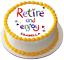 Heureuse retraite 7.5 Premium Comestible Riz Cake Topper peut être Personnalisé D4