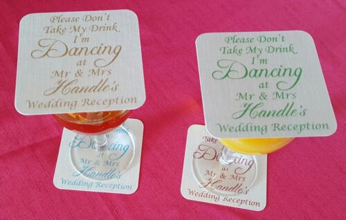 50 Wedding coasters don/'t take my drink any colour wording I/'m Dancing