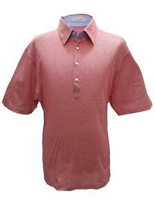 Zilli-Men-039-s-Red-amp-Yellow-Cotton-Polo-Shirt-Short-Sleeve-Regular-fit-size-4XL