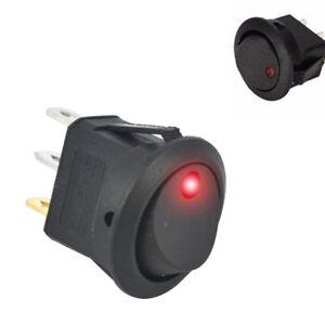 S286-5-Stueck-Schalter-Wippenschalter-EIN-AUS-beleuchtet-rot-12V-bis-16V-LED