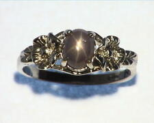 Star Sapphire Natural Genuine Gemstone in Starling Silver Lady,s Ring RSS605