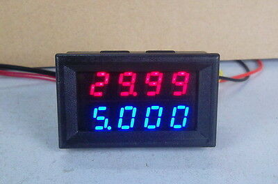 100V 10A DC Digital LED Voltmeter Ammeter Amp Volt Meter Built-in shunt 12v 24v
