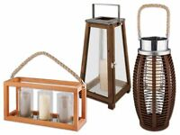 Melinera® Laterne / Kerzenhalter Zur Stimmungsvollen Beleuchtung Aus Kiefernholz