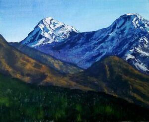 Original-Impressionism-Landscape-Art-Acrylic-Painting-Signed-8-10-inch-on-canvas