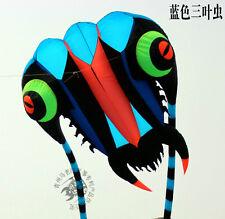 3D 7 Sqm 1 Line blue Stunt Parafoil Trilobites POWER Sport Kite outdoor toy