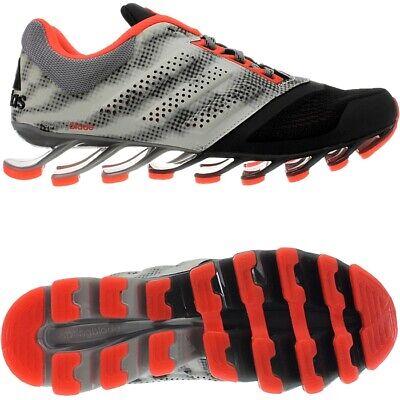 Premuroso Adidas Springblade Drive 2 Nero Rosso Scarpe Da Corsa Uomo Running Jogging Nuovo-mostra Il Titolo Originale