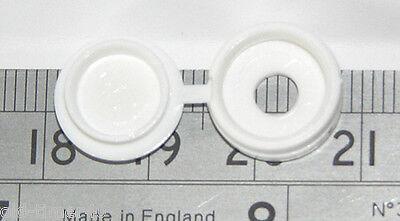 PLASTIC HINGED SCREW COVER CAP CAPS M3.5 & M4 Screws Choose COLOUR & QUANTITY