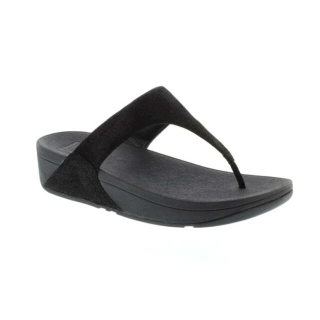 b6f73f9822c7a9 Fitflop Shimmy Suede Black Glimmer Flip Flop Sandal Women s sizes 5-11 NEW