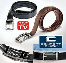 2016 New Comfort Click Belt Leather With Steel Brown And Black For Men Black