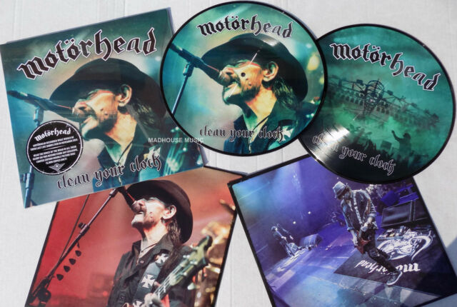 MOTORHEAD LP x 2 Clean Your Clock - Record Store Day 2017 PICTURE DISCS RSD