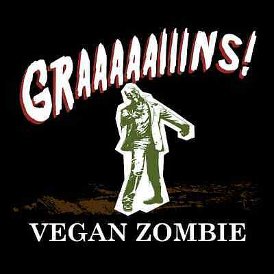 Vegan Zombie Funny T Shirt Walking Dead Hunter Humor Novelty Graphic Tee
