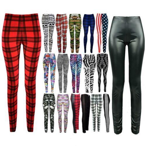 Stylih Donna Lunghezza Intera Stampati Legging Jeggings Pantaloni elastici skinny Legging
