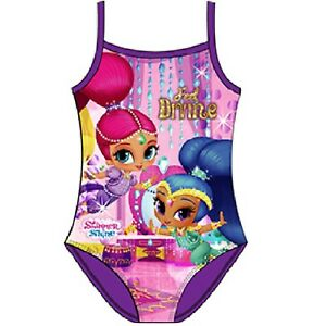 abf186c5d6 New Girls Shimmer And Shine Kids Swimming Costume Swim Suit Pink ...
