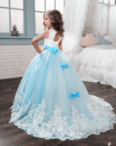 Wedding Flower Girl Dress Pageant  Formal Ball Gown Princess Party Prom Birthday