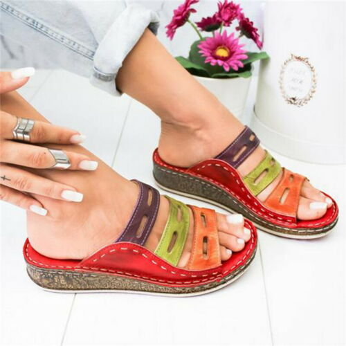 Summer Women Soft Casual Retro Slippers Beach Sandal Shoes  Shoes