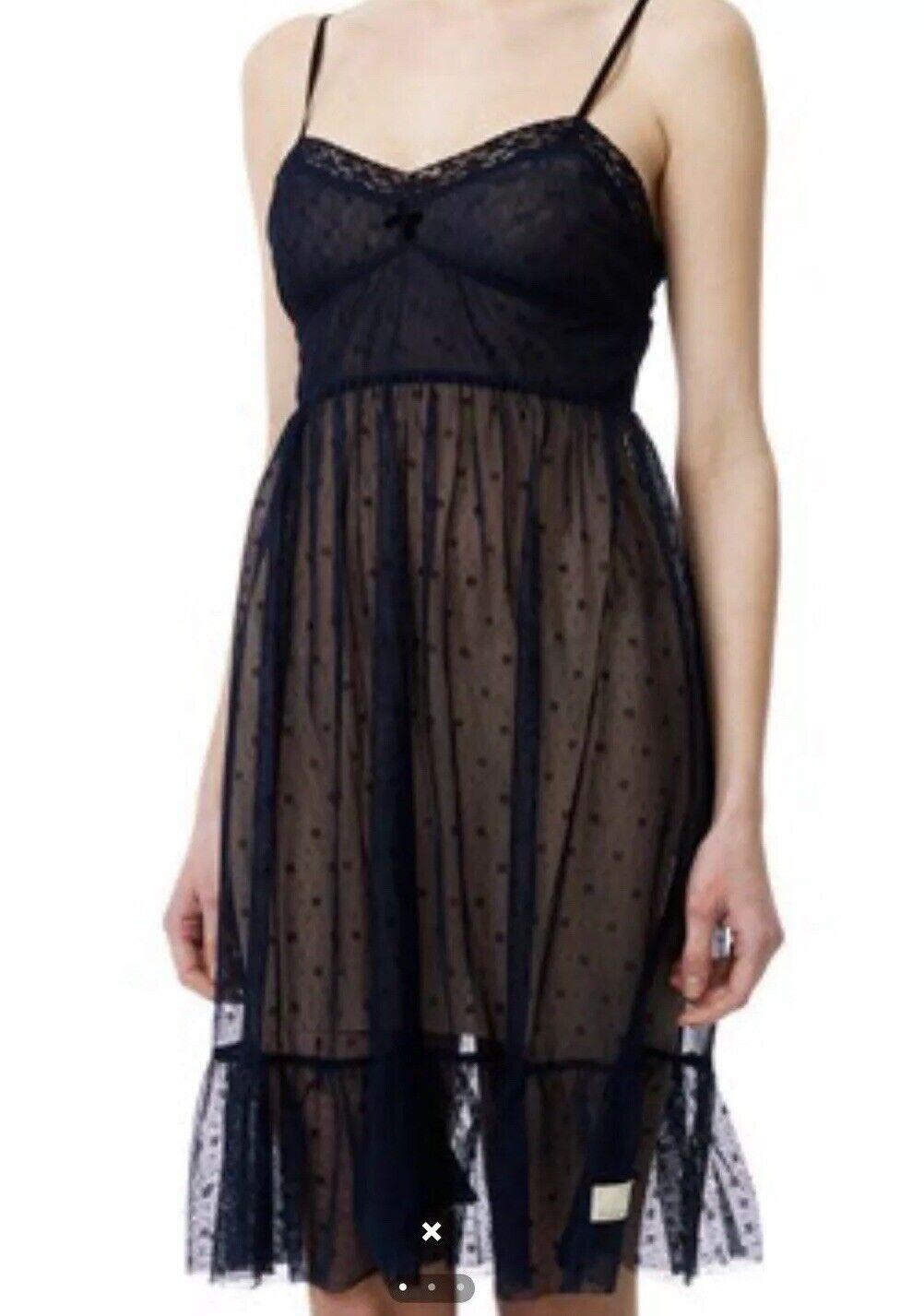 Odd Molly Lacy Strap Dress Boho Blogger Party 1   2 S 36 38