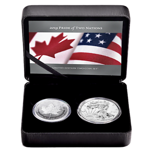 2019-RCM-Pride-of-Two-Nations-Silver-2pc-Canada-Set-Box-OGP-amp-COA