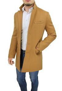 jog preferable Behavior  Cappotto uomo Diamond Class beige cammello giacca lunga soprabito elegante  | eBay