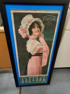 Original Coca Cola 1914 Betty Calendar