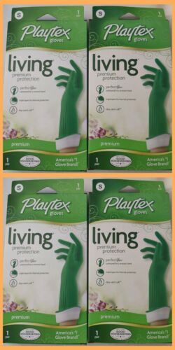 Playtex Reusable living Drip-Catch Cuff Premium Gloves Small 4 Pack