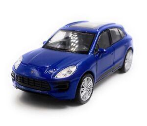 Porsche-Macan-Turbo-SUV-Modellino-Auto-Auto-Blu-Scala-1-3-4-Licenza