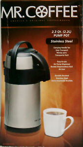 Image Is Loading Mr Coffee 2 3qt Pump Pot Stainless Steel