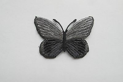 #2544 Blue,Grey,Yellow/Orange Butterfly Embroidery Iron On Applique Patch