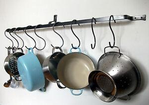 Image Is Loading Long Hanging Pot Rack Pan Kitchen Iron Wall