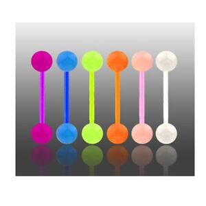 6-Piercing-LINGUA-FLUO-PHOSPHO-FOSFO-lotto-Nove