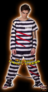 FANCY DRESS COSTUME - FUN ESCAPE FROM ALCATRAZ PRISONER