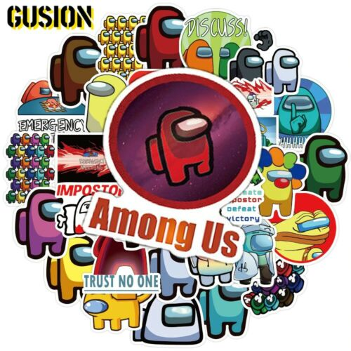 NEW Among Us Game Stickers 50pc For Skateboard Fridge Guitar Laptop Motorcycle