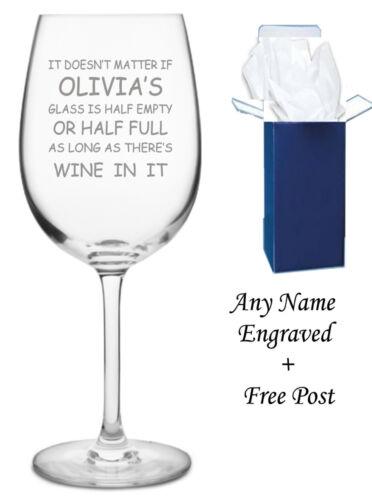 mum mom nanny gift Personalised Engraved Wine Glass Birthday gift