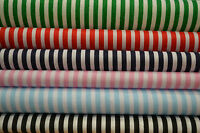 3mm Candy Stripes On White Craft Dress Polycotton Fabric Poly Cotton