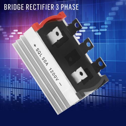 2PCS Bridge Rectifier Diode 50 Amp 1200V 3-Phase Diode Bridge Rectifier HighQ