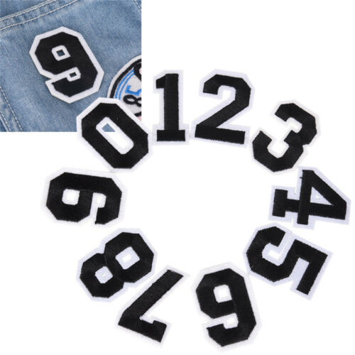 10PCs DIY Number Embroidery Sew On Iron Patch Badge Bag Fabric Applique CraftHGU