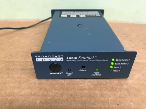 Broadcast Tools Audio Sentinel Web Based Dual Channel Stereo Silence Senor