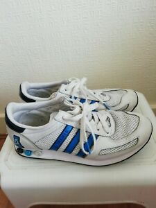 Mens-2011-Adidas-Originals-L-A-Trainer-White-blue-Uk-Size-7-Eu-41