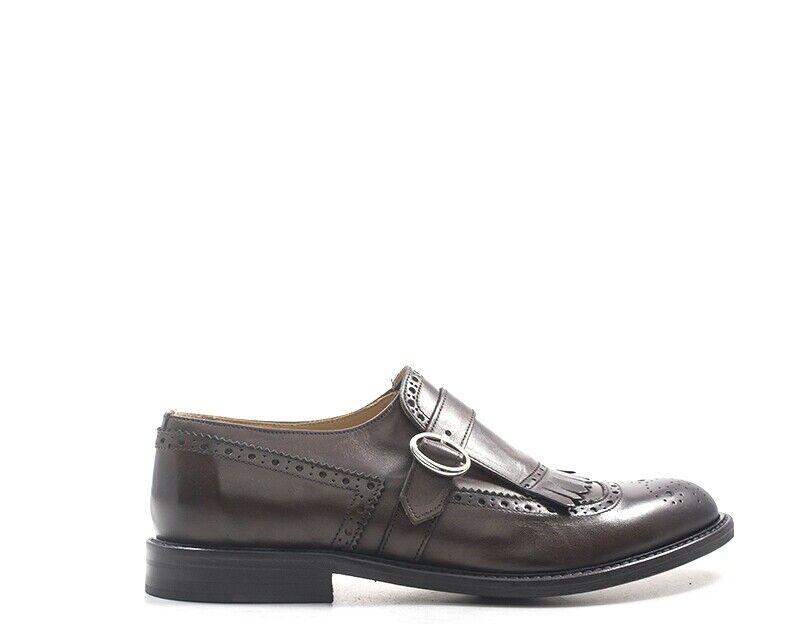 Zapatos mezzetinte hombre marrón brogue, natural de cuero 5804-ma