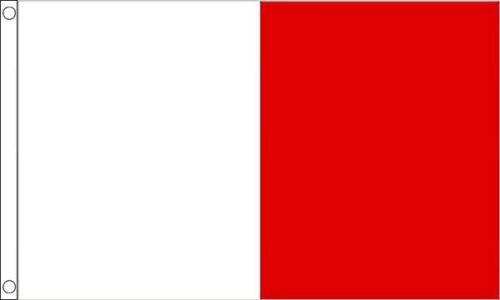 White and Red Irish County Flag 3ft x 2ft Flag Banner 90cm x 60cm