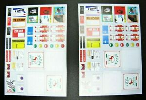 TREMONIA-TRE007-Garage-Accessories-Diorama-decal-sheet-For-Sale-Pizza-Dad-1-18