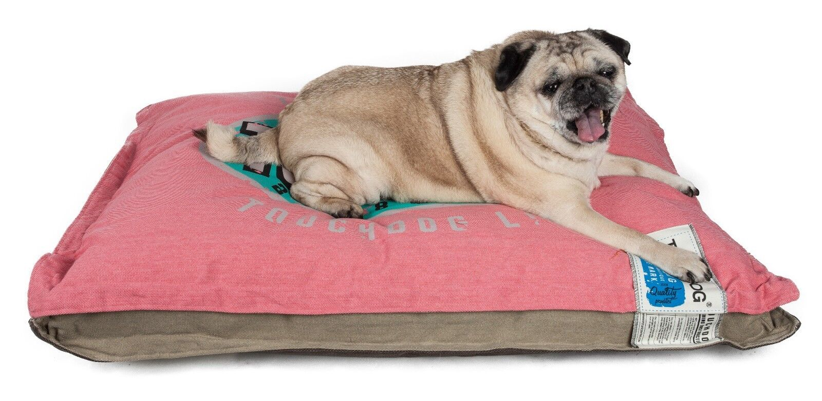 Sporty Shock-Stitched Reversible Rectangular Thick Dog Mat Bed