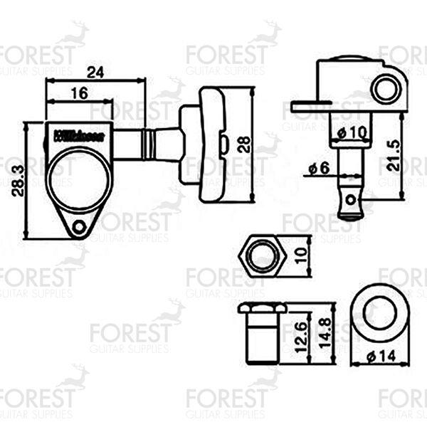 Wilkinson WJ-309 machine heads IMPERIAL deco Stil Chrom, 3L+3R 3L+3R 3L+3R 777b9e